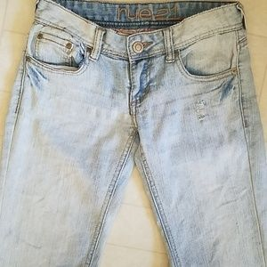 Rue21 Stonewashed Distressed Jeans
